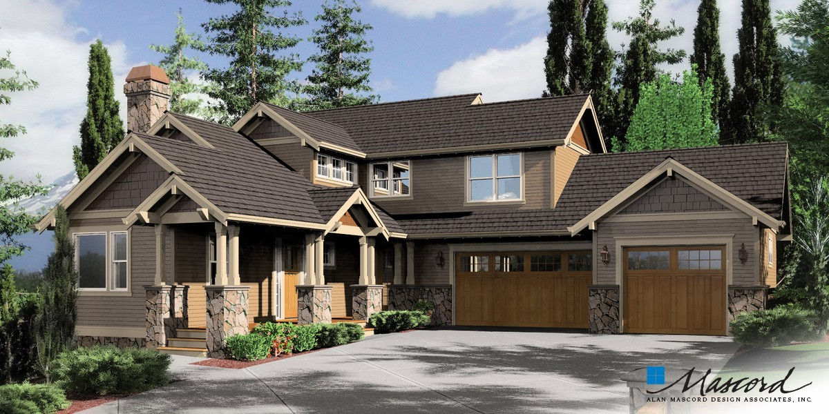 Image for Clearfield-Sloped lot daylight Craftsman-Front Rendering