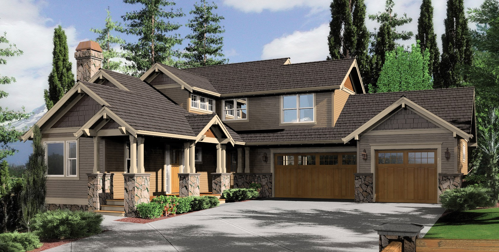 Image for Clearfield-Sloped lot daylight Craftsman-2320