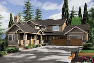 Front Rendering of Mascord House Plan 2374 - The Clearfield