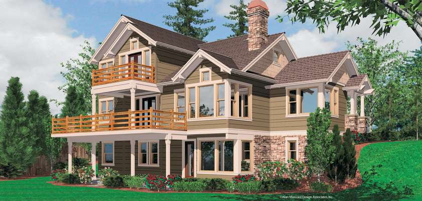 Mascord House Plan 2374: The Clearfield