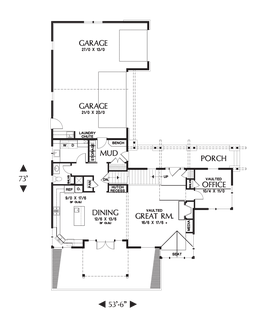 Image for Clearfield-Sloped lot daylight Craftsman-Main Floor Plan