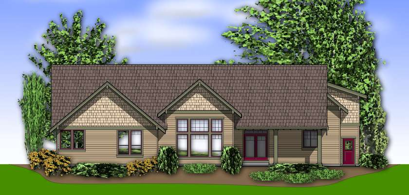 Mascord House Plan 2377: The Pineville