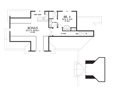 Image for Pineville-L-Shaped 4 Bedroom with Jack and Jill Bath-Upper Floor Plan