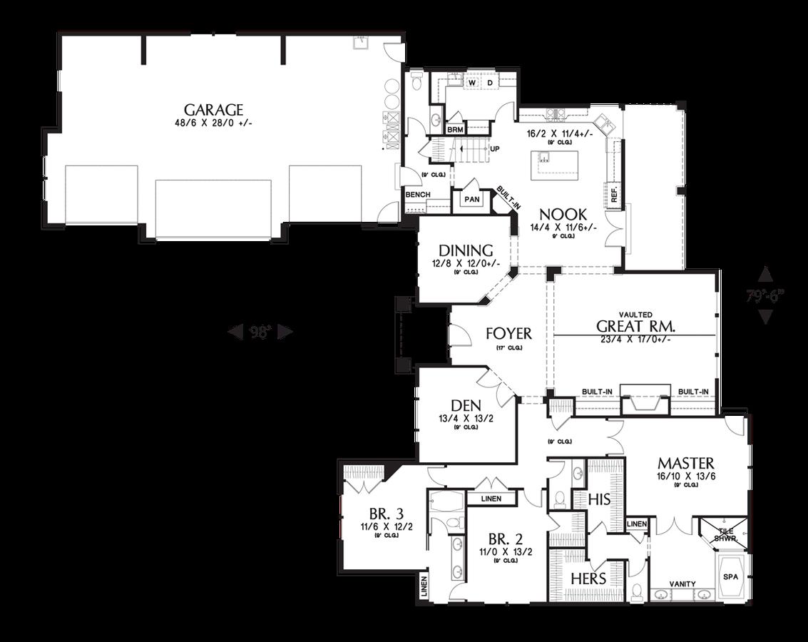Mascord House Plan 2377 The Pineville