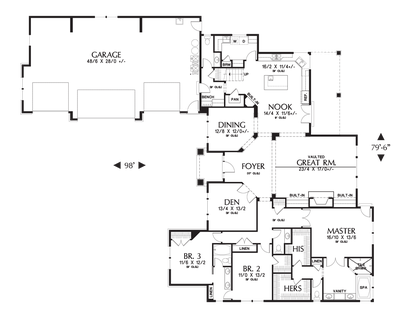 Image for Pineville-L-Shaped 4 Bedroom with Jack and Jill Bath-Main Floor Plan