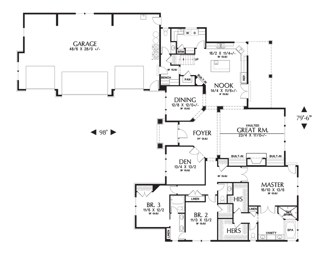 House plan 2377 the pineville for Houseplans co