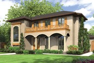 Front Rendering of Mascord House Plan 2379 - The Isabella