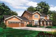 Front Rendering of Mascord House Plan 2383 - The Lofton