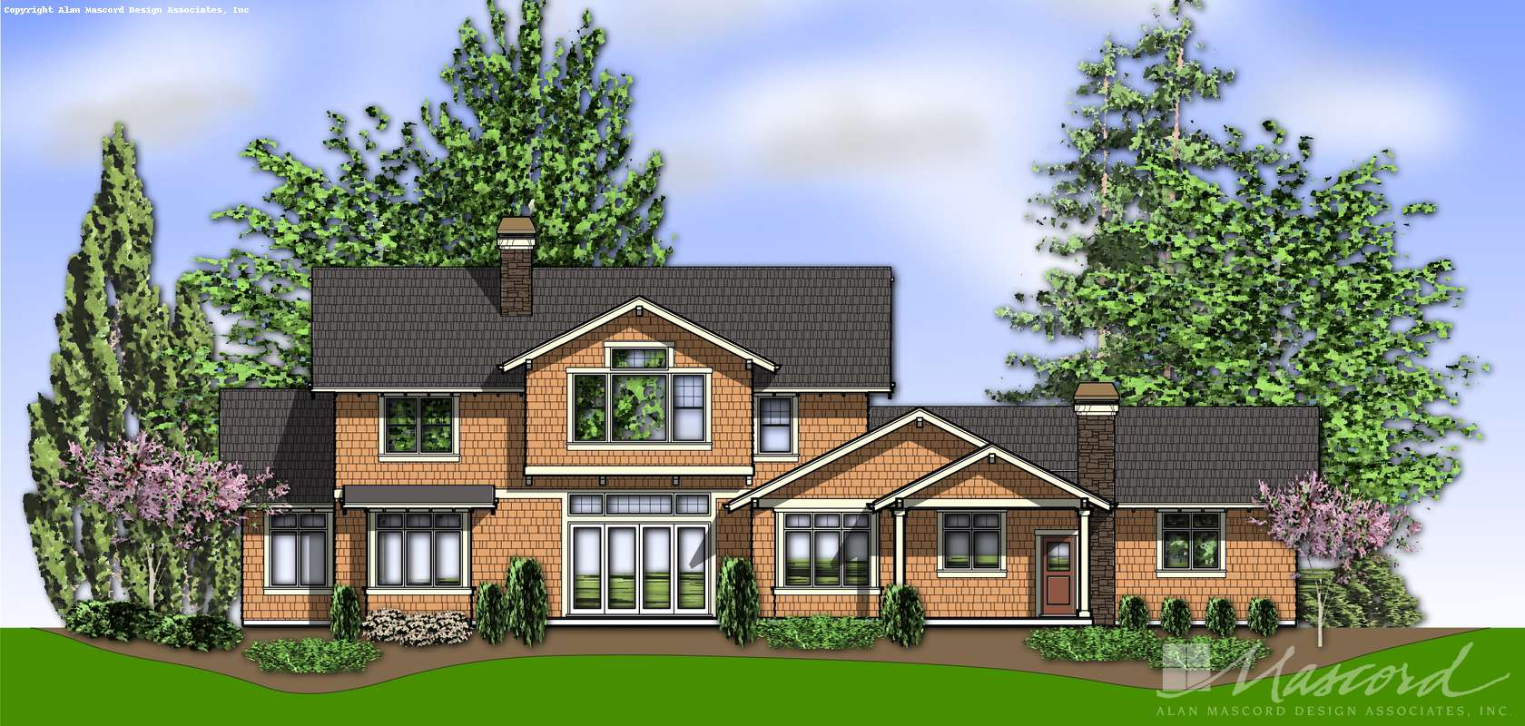 Mascord House Plan 2383: The Lofton