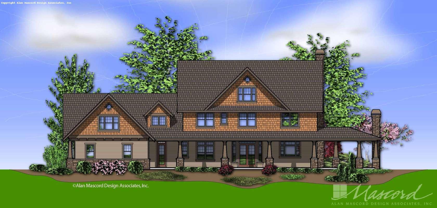Mascord House Plan 2386: The Vicksburg
