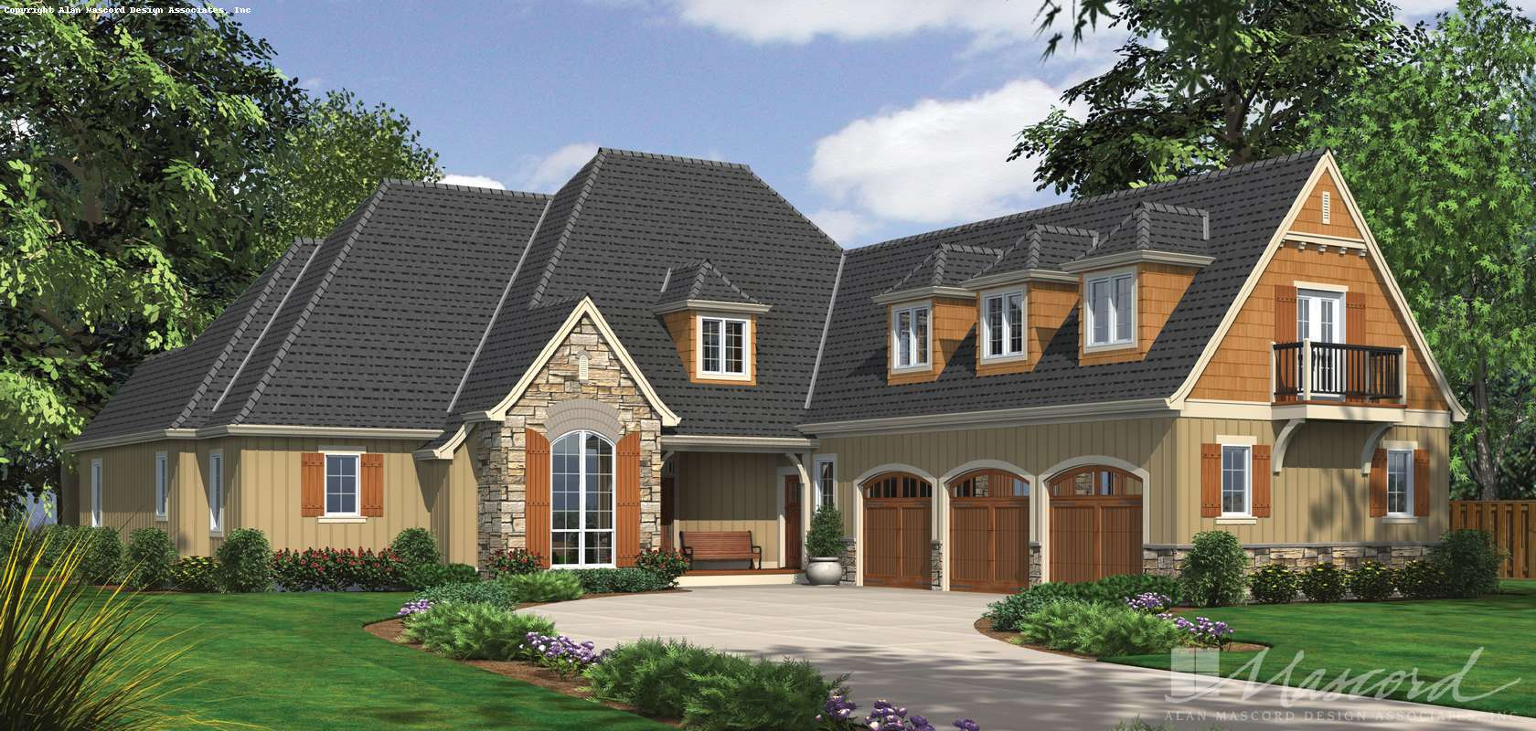 Mascord House Plan 2390: The Hamilton
