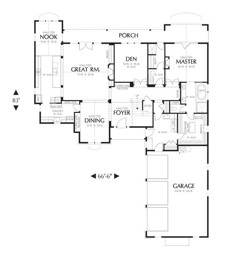 Mascord house plan 2477 house plans ranch style homes House plans mascord