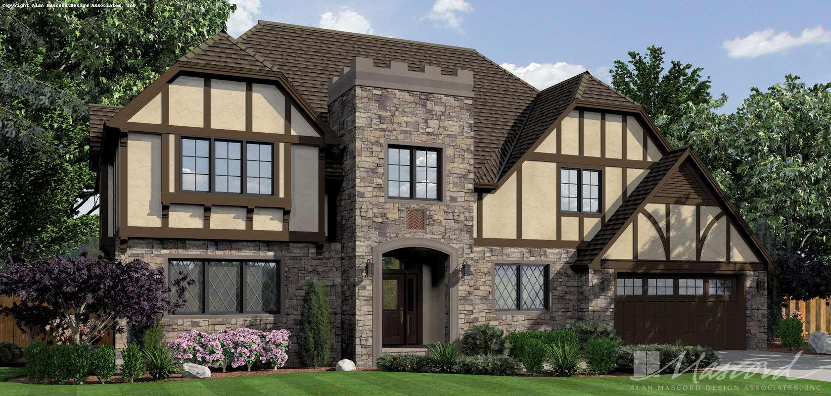 Mascord House Plan 2392: The Kent