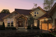 Front Rendering of Mascord House Plan 2393 - The Mountainview