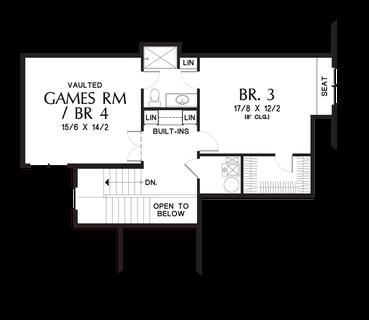 Image for Vidabelo-Elegant Craftsman with Double Master Suites-Upper Floor Plan