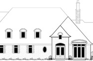 Front Elevation of Mascord House Plan 2397 - The Turnlund