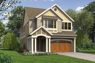 Front Rendering of Mascord House Plan 2399 - The Laurelhurst