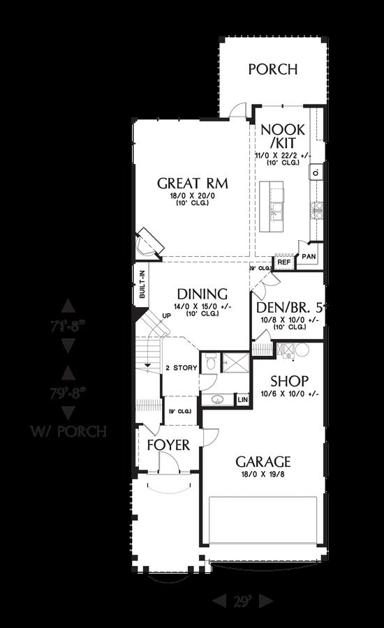 Image for Laurelhurst-Large Plan for Narrow Lots Full of Character-Main Floor Plan