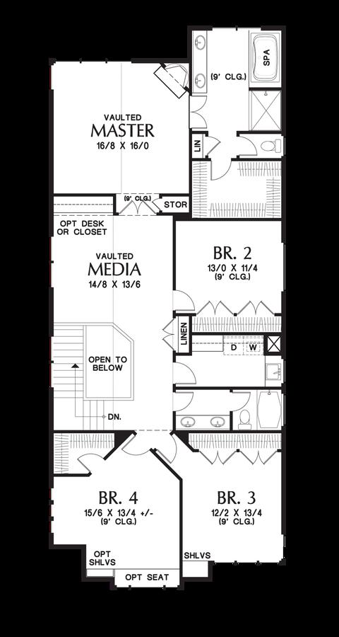 Image for Laurelhurst-Large Plan for Narrow Lots Full of Character-Upper Floor Plan