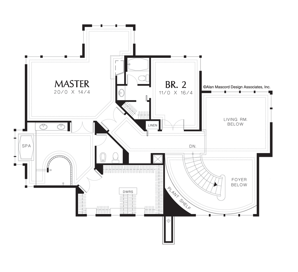 mascord house plan 2405 the maxfield