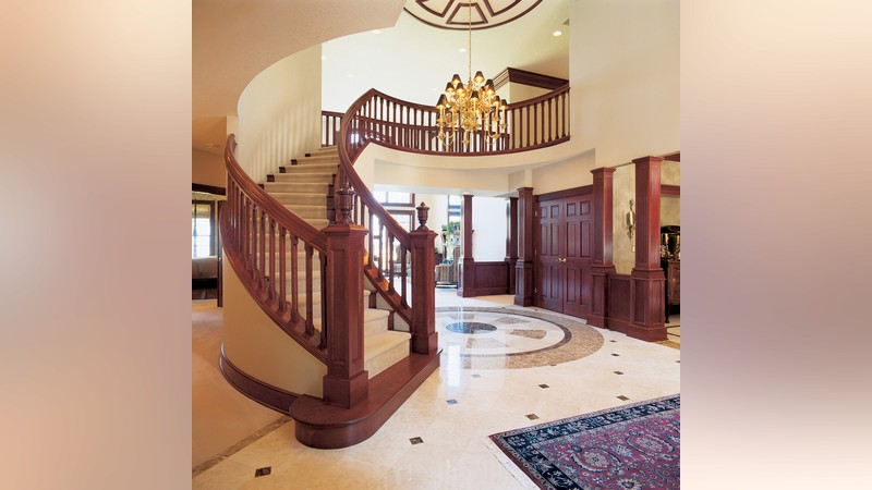 Mascord house plan 2406 the holloway for House plans with stairs in foyer