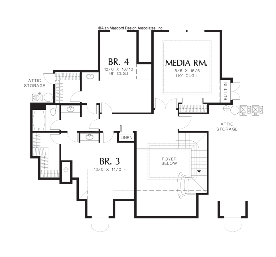 Mascord House Plan 2413b The Wellington