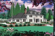 Front Rendering of Mascord House Plan 2413C - The Longworth