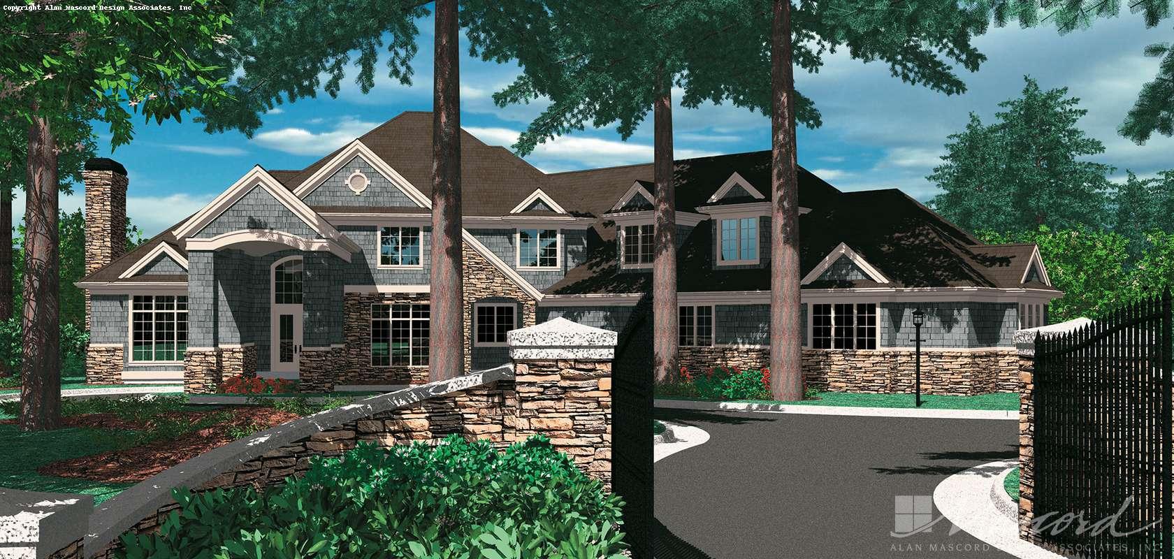Mascord House Plan B2414B-Truss Roof: The Lanagan