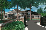 Front Rendering of Mascord House Plan 2414B - The Lanagan