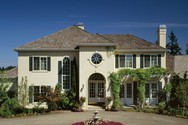 Front Exterior of Mascord House Plan 2415 - The Merino