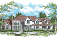 Front Rendering of Mascord House Plan 2416 - The Morley
