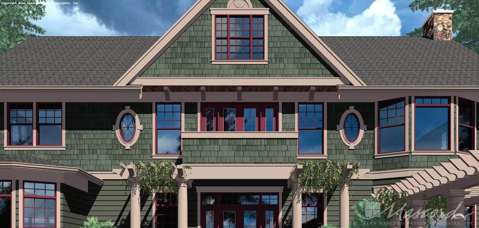 Mascord House Plan 2418: The Parnell