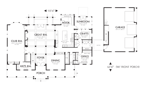 Image for Garnell-Build the Country Estate of Your Dreams-Main Floor Plan