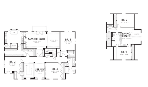 Image for Garnell-Build the Country Estate of Your Dreams-Upper Floor Plan