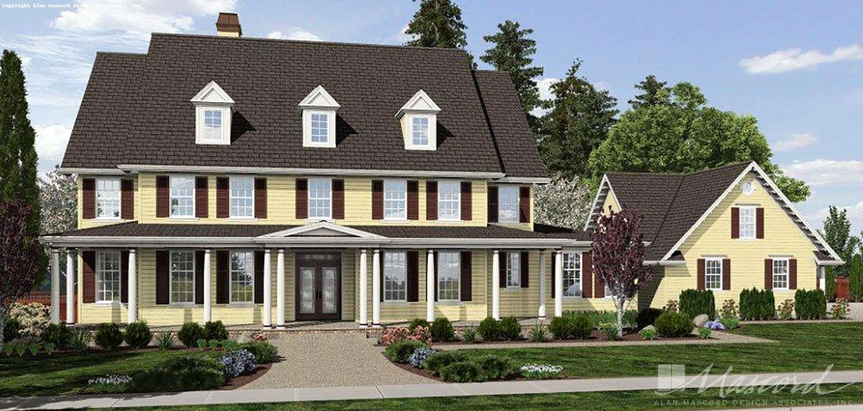 Mascord House Plan 2418A: The Garnell
