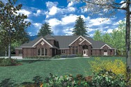 Front Rendering of Mascord House Plan 2420 - The Gatelyn