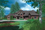 Front Rendering of Mascord House Plan 2421 - The Ingram