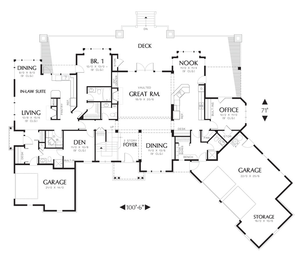 House plans with inlaw apartment separate entrance for Home designs with inlaw suites