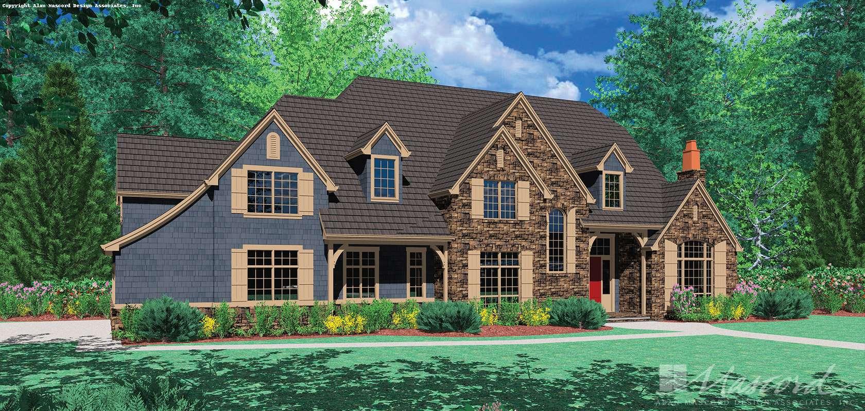 Mascord House Plan 2422: The Fireglow