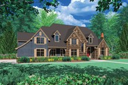 Front Rendering of Mascord House Plan 2422 - The Fireglow