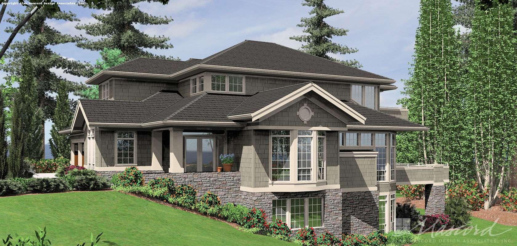 Mascord House Plan 2423: The Mendon