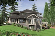 Front Rendering of Mascord House Plan 2423 - The Mendon