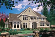 Front Rendering of Mascord House Plan 2425 - The Stolon