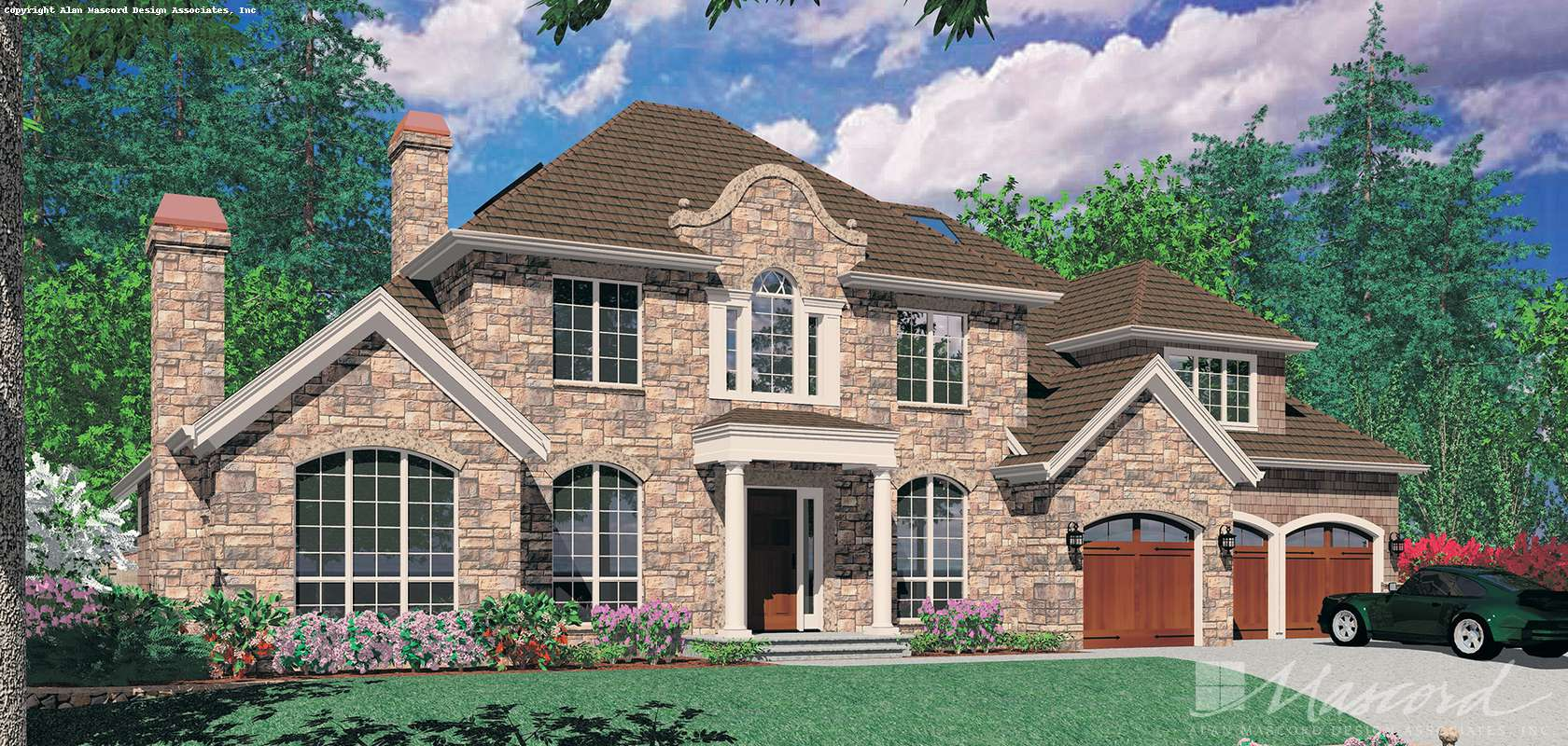 Mascord House Plan 2428: The Marigold