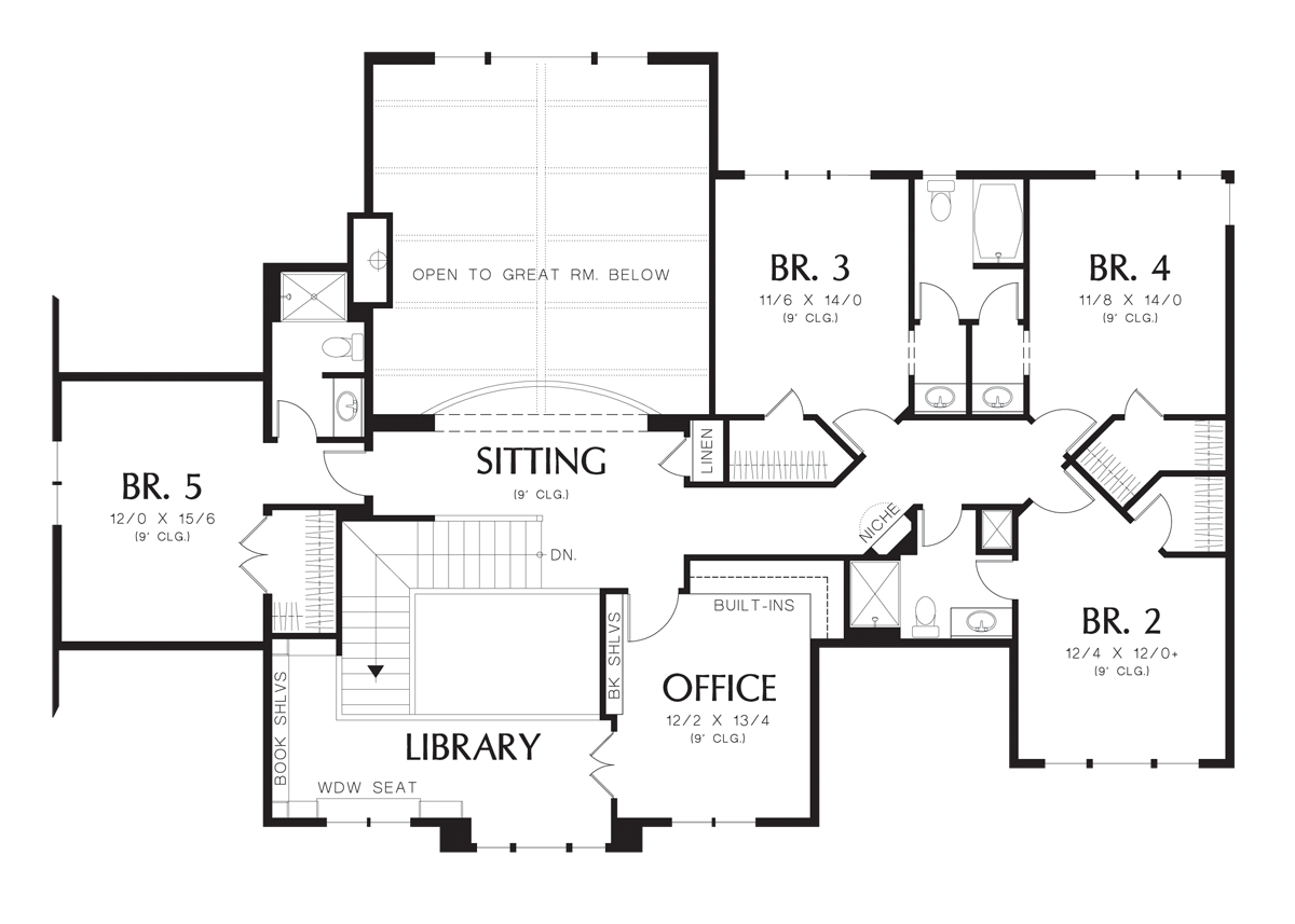 country house plan 2428c the winthrop 4574 sqft 5 beds