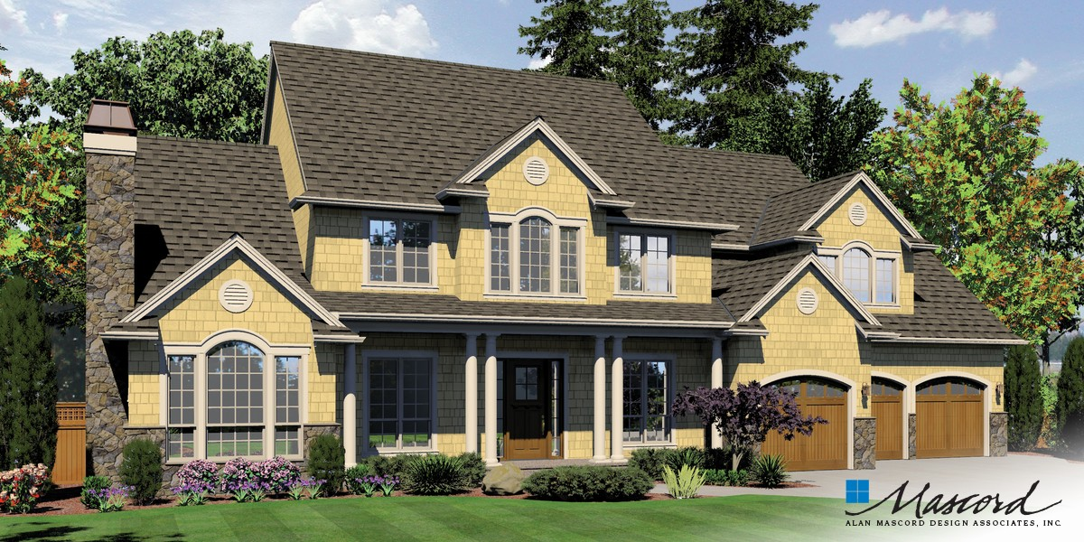 Mascord house plan 2428c the winthrop for Mascord house plans