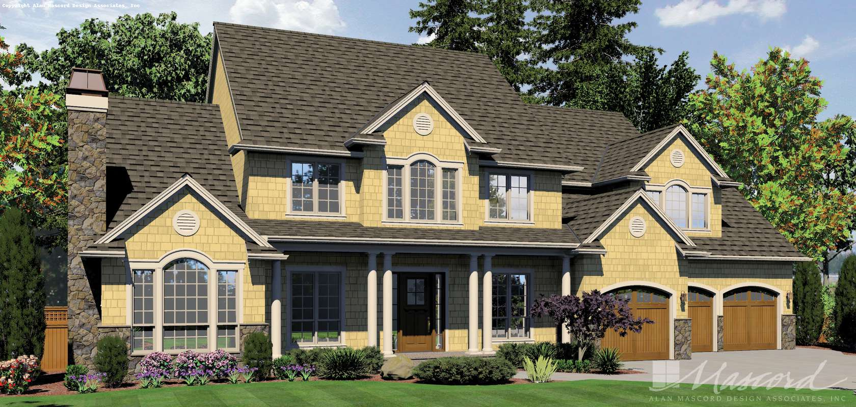 Mascord House Plan 2428C: The Winthrop