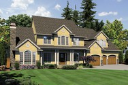 Front Rendering of Mascord House Plan 2428C - The Winthrop