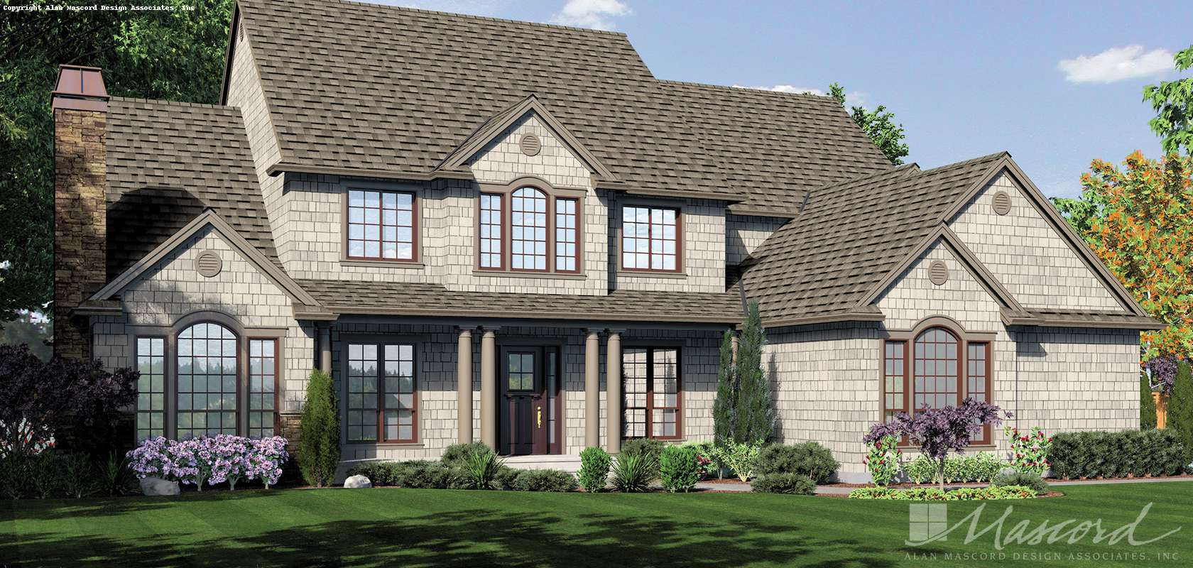 Mascord House Plan 2428CA: The Winthropshire