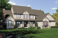 Front Rendering of Mascord House Plan 2428CA - The Winthropshire
